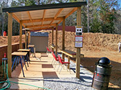 South Carolina gun classes in a sheltered well-equipped shooting bay.