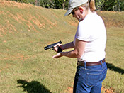 Paladin Services teaches women effective gun handling for self defense in greater Columbia, SC.