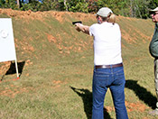 Women personal gun training with Paladin Services produces results.