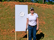 Personal firearms training with Paladin Services can help women gain confidence with a powerful handgun.